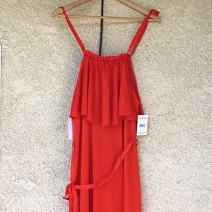 Free people coco popover maxi dress NWT XS